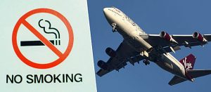Røyking forbudt på fly